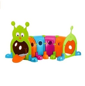 ECR4Kids GUS Climb-N-Crawl 캐터필라 터널놀이 - 배송기간 14일~21일 (ECR4Kids GUS Climb-N-Crawl Caterpillar Tunnel - Indoor/Outdoor Fun Kids Play Structure at Home, Daycare, or Preschool - 7 Feet Long, Vibrant Colors )
