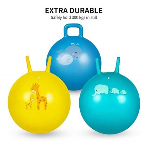 Trideer Hopper 손잡이가 있는 어린이 점프 공- 배송기간 14일~21일 (Trideer Hopper Ball Kids Exercise Ball Multi-Function, Jump Ball, Bouncy Ball with Handles, Kids Balance Ball and Ball Chair for Children Age 3-12, Air Pump Included )